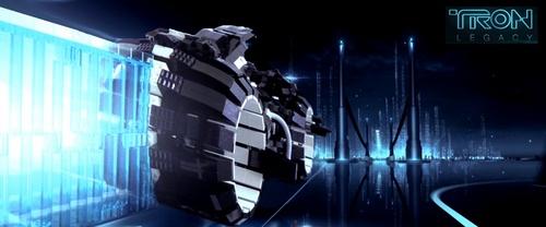 Tron Light Cycle Lego