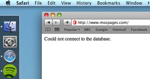 MOCpages error