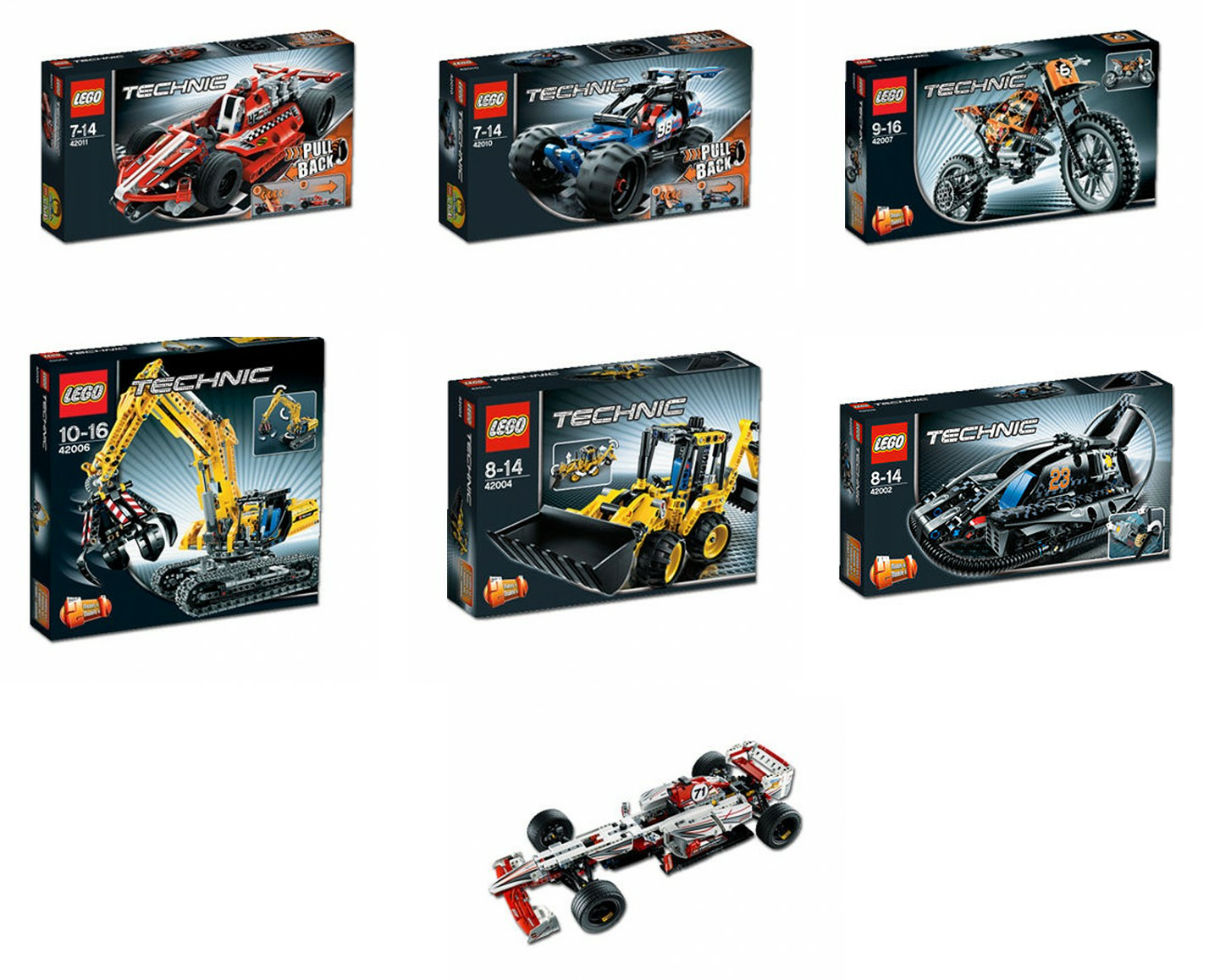 2013 technic sets complete line up the lego car blog. Black Bedroom Furniture Sets. Home Design Ideas