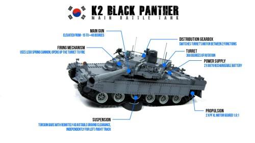 K2 Black Panther Lego Tank