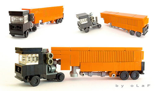 Lego Microscale Truck