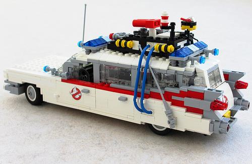 lego ecto1 ghostbusters car the lego car blog. Black Bedroom Furniture Sets. Home Design Ideas