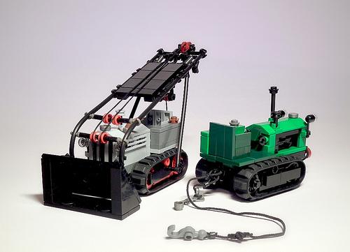 Lego Bulldozer Tractor