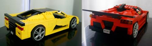 Lego Gumpert Apollo and SSC Aero
