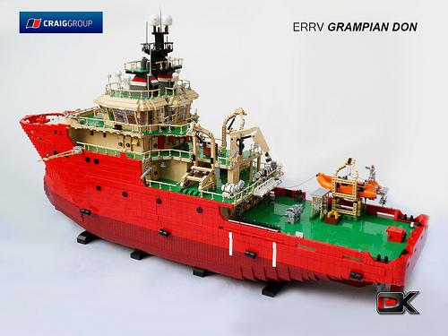 Lego Rescue Ship ERRV Grampian Don