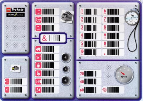Lego Technic Barcode Sheet