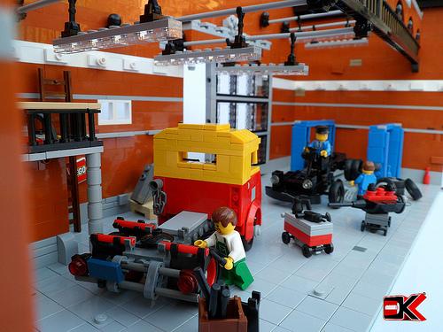 Garage the lego car