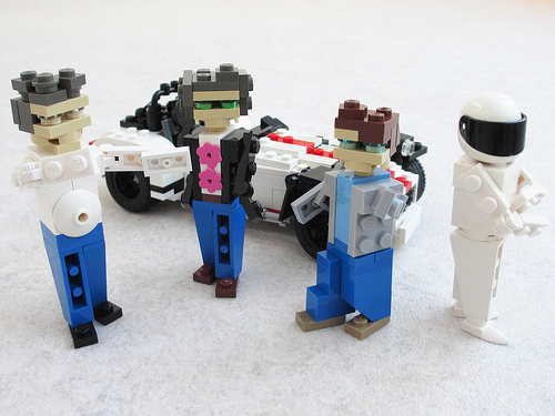 Lego Top Gear, Clarkson, Hammond, May, Stig