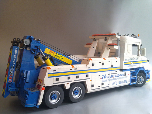 Lego Tow Truck Scania Wrecker The Lego Car Blog