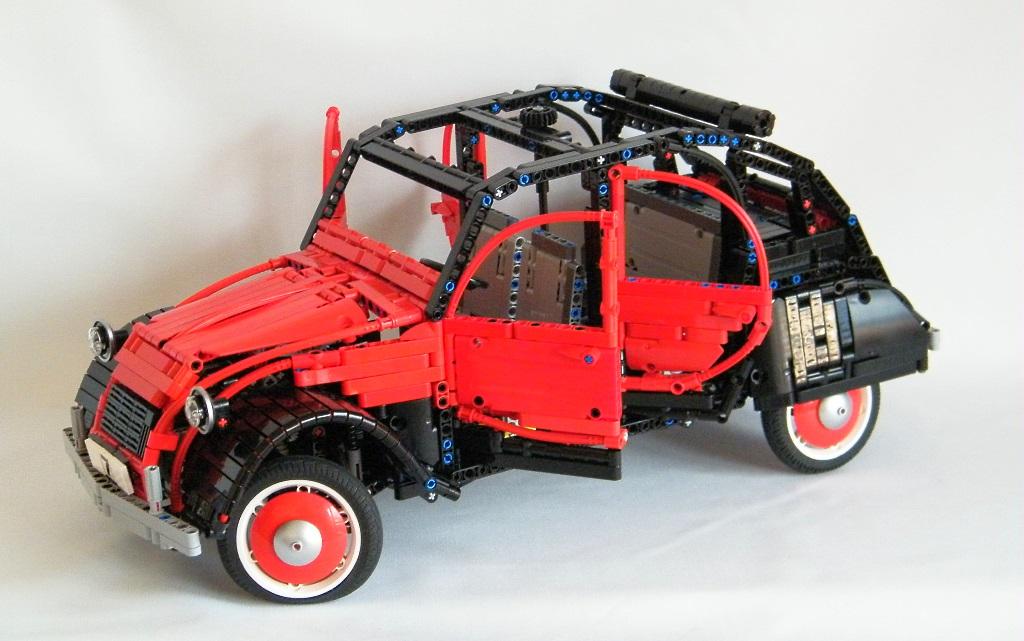 lego technic citroen 2cv the lego car blog. Black Bedroom Furniture Sets. Home Design Ideas