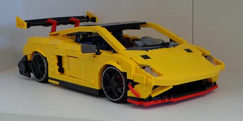 how to build a lego lamborghini