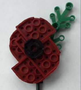 Lego Remembrance Poppy