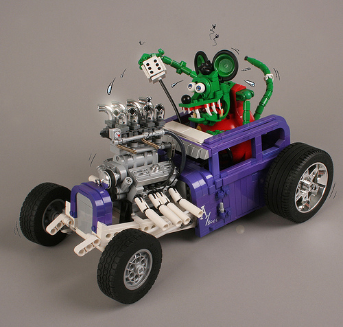 Lego Rat Fink Hot Rod