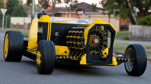Life-size Lego Car