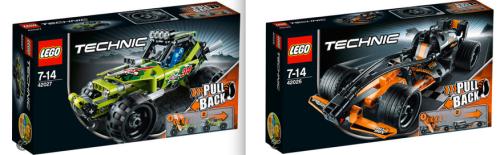 Lego technic 42026 and 42027
