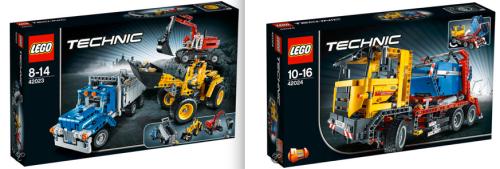 Lego Technic 42023 and 42024
