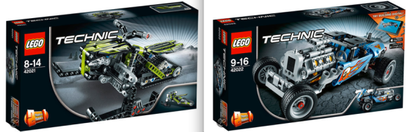 Lego Technic 42021 and 42022