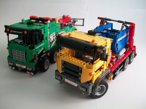 Lego Technic 42024 and 42008
