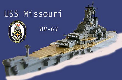 Lego USS Missouri