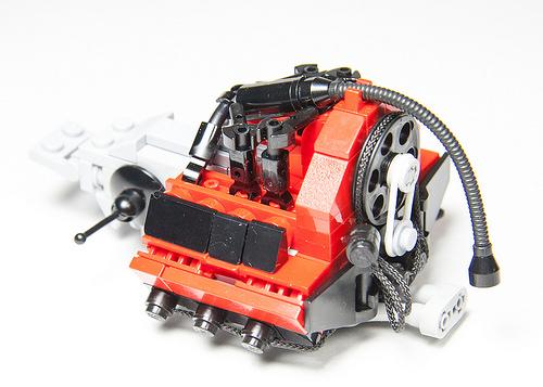 Lego Porsche Flat 6 Turbo