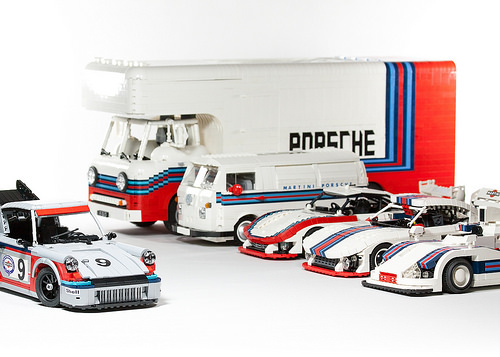 Lego Martini Porsche Racing