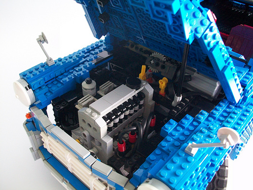 Lego Morris Minor A-Series Engine