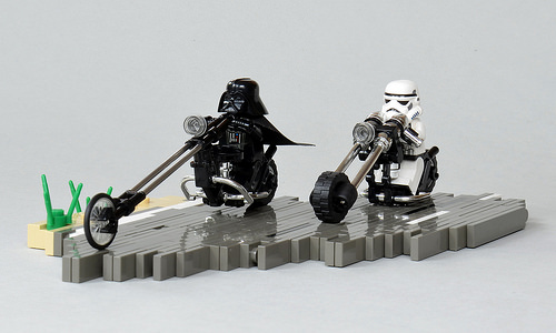Lego Darth Vader Motorbike