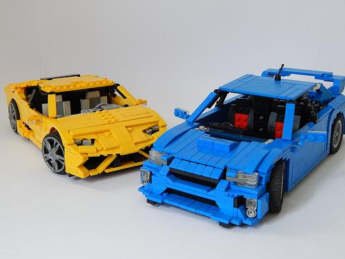 Lego Lamborghini vs Subaru WRX