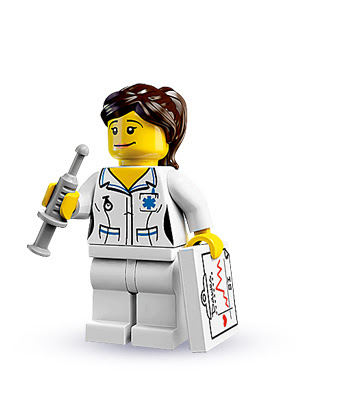 Lego Nurse Mini-Figure