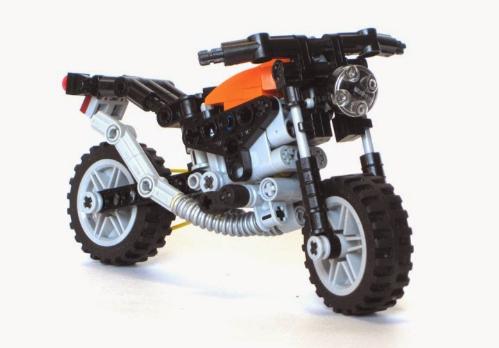 lego technic mini motorbike the lego car blog. Black Bedroom Furniture Sets. Home Design Ideas