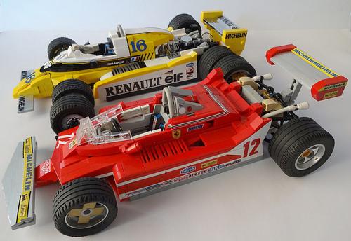 Lego 1979 Ferrari and Renault Formula 1