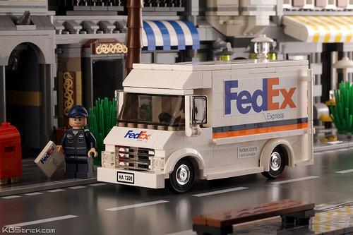 Lego FedEx Truck