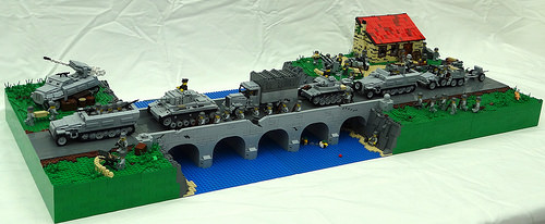 Lego WW2 Bridge | THE LEGO CAR BLOG