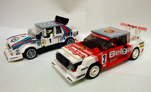 Lego Group B Rally Cars Audi Lancia
