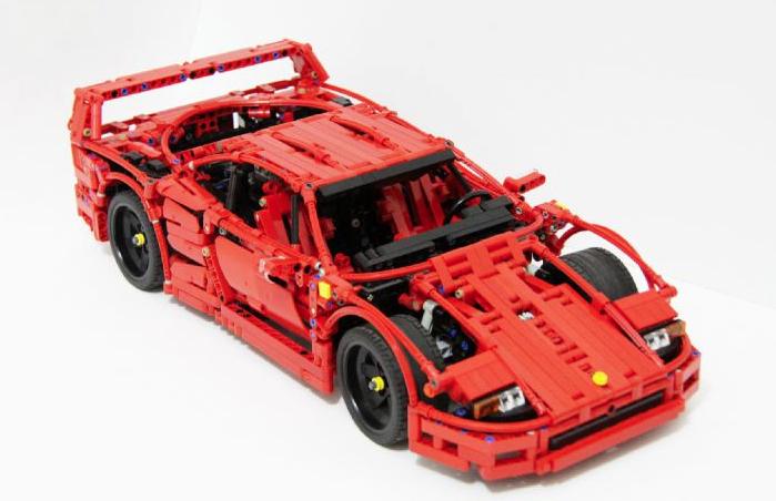 lego technic ferrari f40 the lego car blog. Black Bedroom Furniture Sets. Home Design Ideas