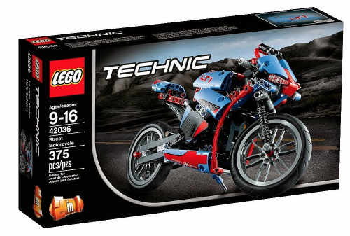 New Lego Technic 2015 42036 Street Motorcycle