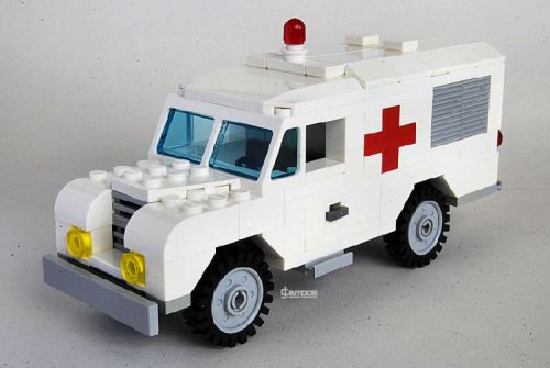 Lego Land Rover Ambulance