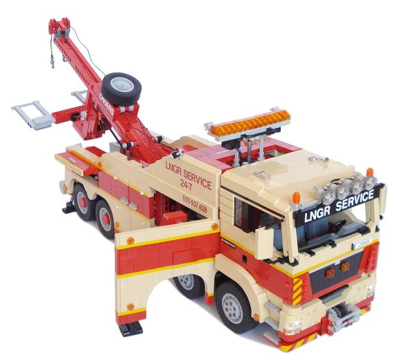lego technic man wrecker the lego car blog. Black Bedroom Furniture Sets. Home Design Ideas