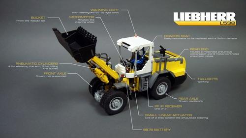 Lego Technic Remote Control Front Loader