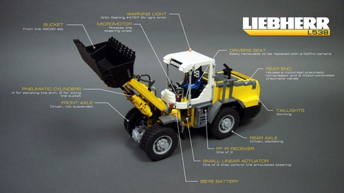 Lego Technic Remote Control Front Loader