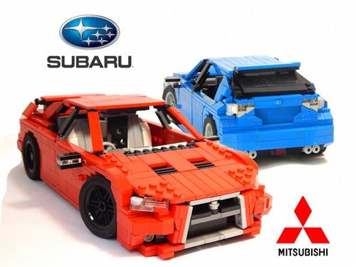 Lego Evo X vs Impreza STI