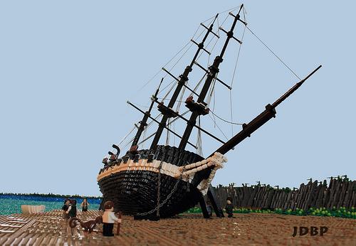 Lego HMS Beagle
