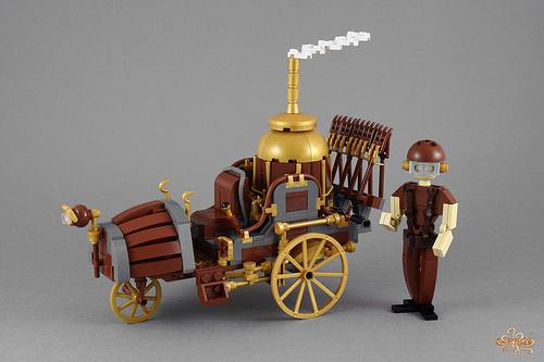 Lego Steampunk Plough