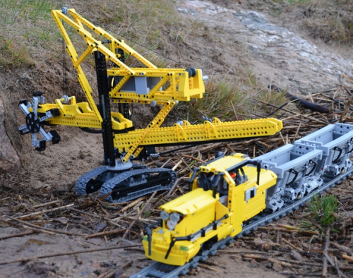 Lego Technic Bucketwheel Excavator and Train
