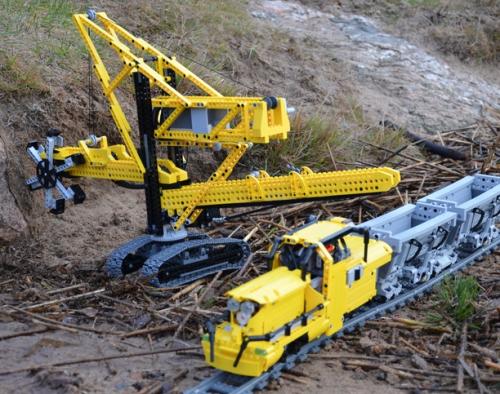 Lego Technic Bucketwheel Excavator and Train