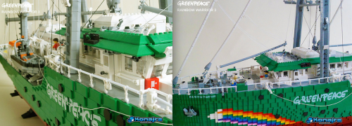 Greenpeace Rainbow Warrior 3 Lego