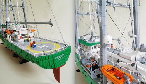 Lego Rainbow Warrior Ship