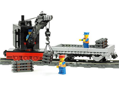 Lego Track Crane