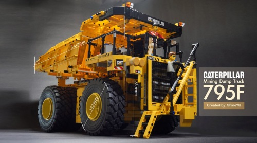 Lego Technic Caterpillar Dump Truck