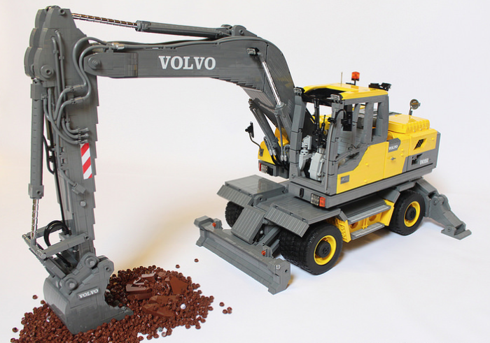 excavator the lego car blog. Black Bedroom Furniture Sets. Home Design Ideas
